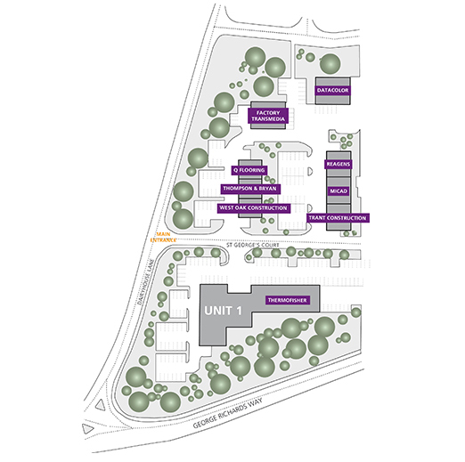 St George's Court Site Plan